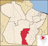 Mapa PA com destaque para Felix do Xingu