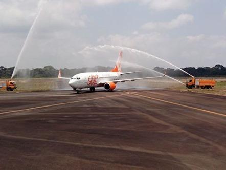 Aeronave da Gol em voo Inaugural em Carajás
