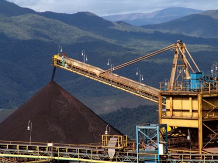 Pilha de minério de ferro da Vale