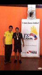 Romário, primeiro lugar do tênis de mesa