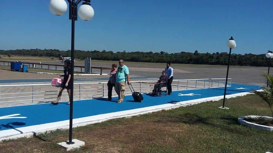 passarela aeroporto de Marabá