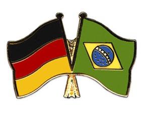 Freundschaftspins-Deutschland-Brasilien