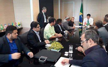 Ministro Helder recebe prefeito de Tucuruí e comitiva