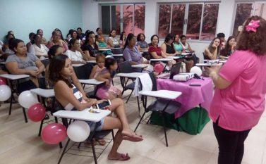 Em Canaã, mulheres participam de palestra sobre prevenção ao câncer