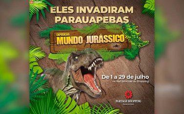 Dinossauros invadem o Partage Shopping Parauapebas