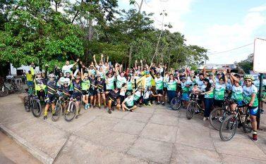 Em Canaã passeio ciclístico encerra a Semana do Meio ambiente