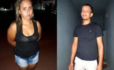 Junto no tráfico, casal vai preso também por roubo de moto em Redenção