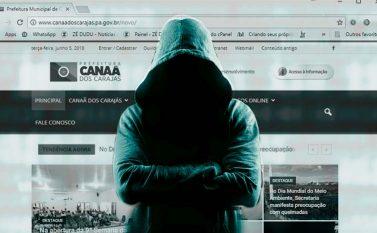 Hackers invadem site da prefeitura de Canaã dos Carajás