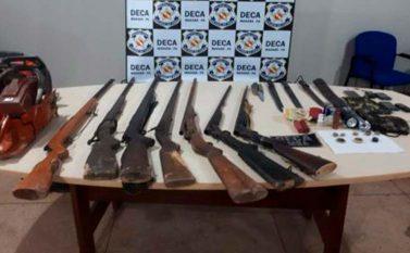 Doze presos e arsenal apreendido em Marabá