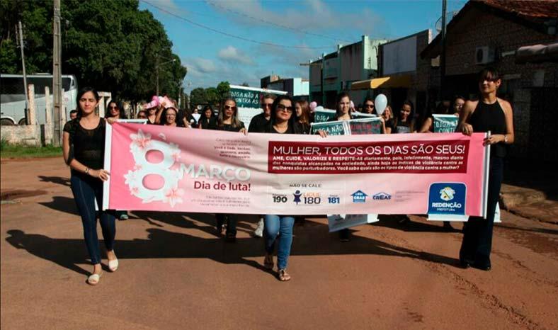 Caminhada, café da manhã e palestra marcam Dia da Mulher em Redenção