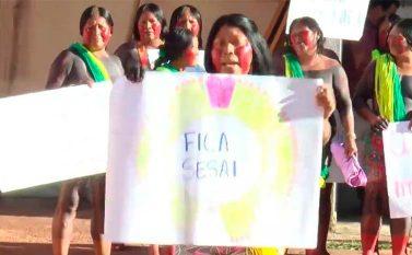 Indígenas Kayapó fizeram manifestação em Redenção