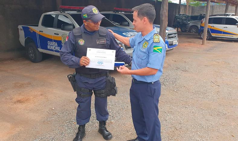 Guarda Municipal recebe homenagem por ter evitado um suicídio em Marabá