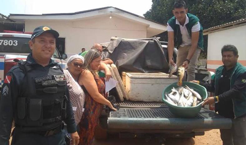 Polícia Militar apreende 80 quilos de pescado em Jacundá