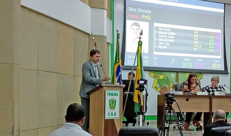 Vereador de Marabá protesta contra o não atendimento de emendas impositivas