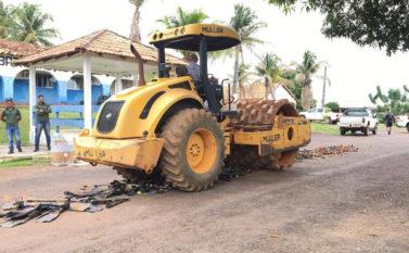 Apetrechos de pescas e descargas Kadron são destruídos em Tucuruí