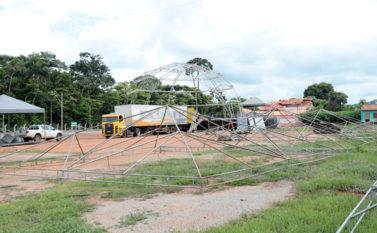 Estrutura de carnaval já começou a ser montada em Canaã dos Carajás