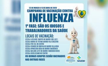 Campanha de vacinação contra gripe é antecipada para evitar sobrecarga do Sistema de Saúde