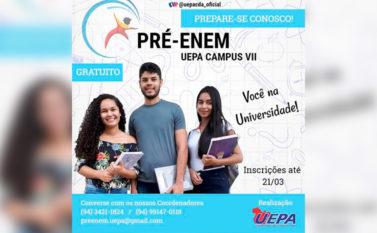 Conceição do Araguaia: Uepa abre inscrições de cursinho preparatório gratuito para o Enem