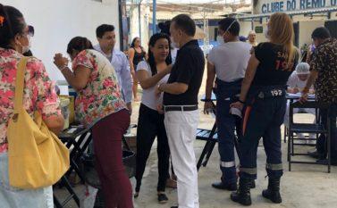 Estádios Baenão e Curuzu estão sendo postos de vacinação contra a gripe na capital Belém