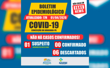 Conceição do Araguaia descarta mais dois casos suspeitos de coronavírus
