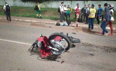 Adolescente morre em acidente de moto na Rodovia Faruk Salmen