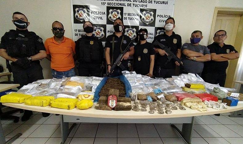Polícia Civil de Tucuruí incinera droga apreendida