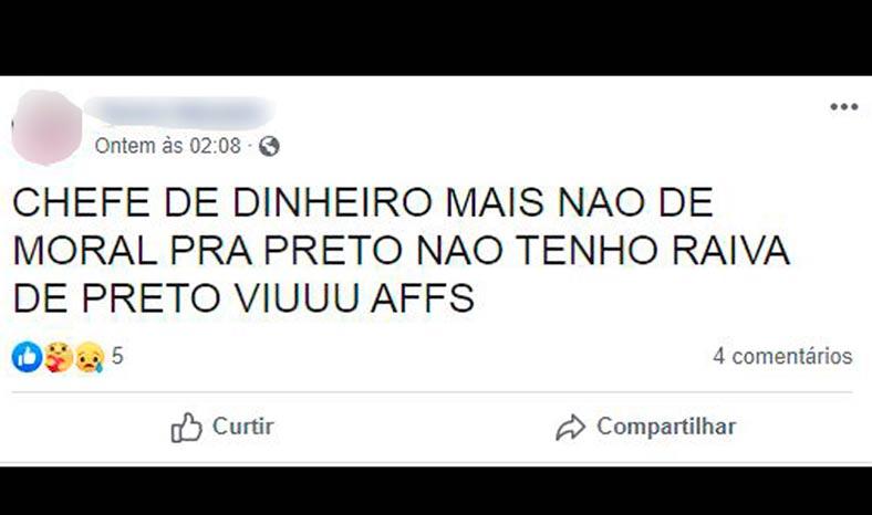 Marabá: Publicação racista no Facebook gera prisão de acusado