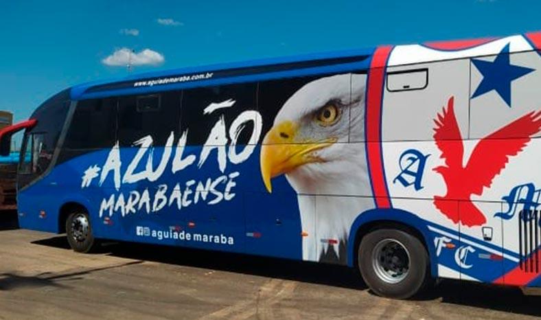 Diretoria do Águia vai apresentar o ônibus do clube na Live Solidária no dia 11 de julho