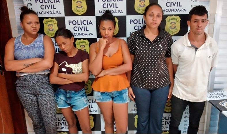 Operação policial prende cinco por tráfico de drogas em Jacundá