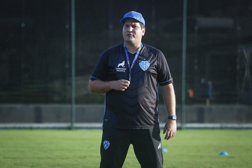 Matheus Costa foi apresentado oficialmente como novo técnico do Paysandu Sport Club