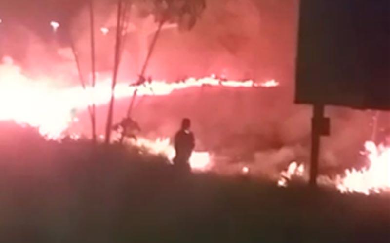 Canaã dos Carajás: queimada de grande proporção atinge Morro das Antenas