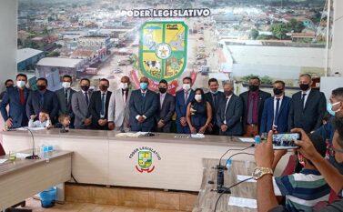 Itonir e Chapolin e 13 vereadores são empossados em Jacundá